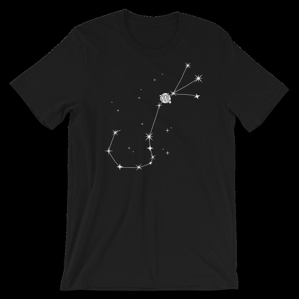 áo thun đen in hình chòm sao bọ cạp 2