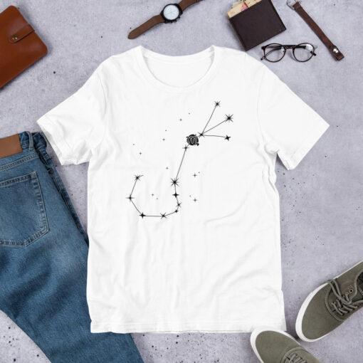 áo thun trắng in hình chòm sao bọ cạp 1