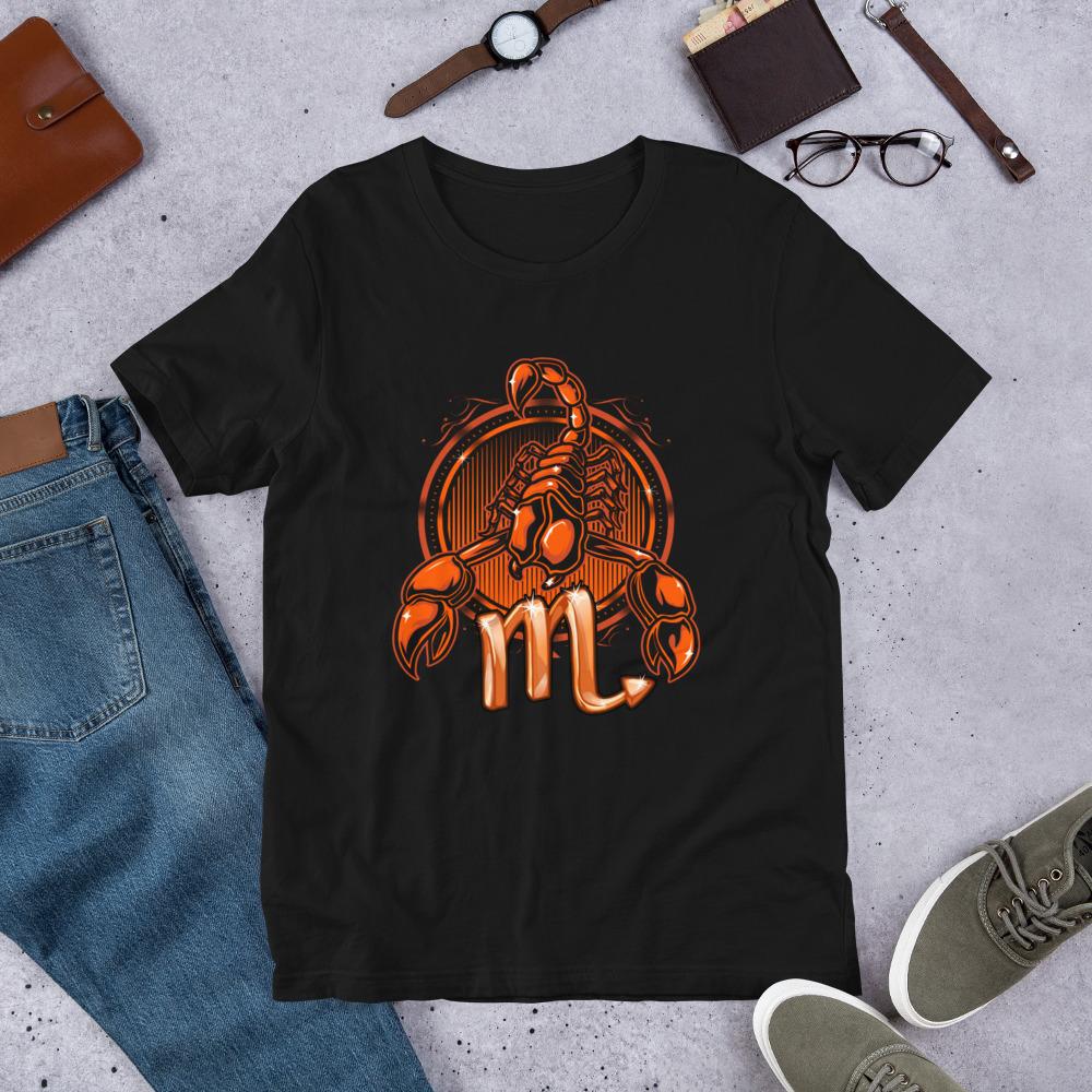 áo thun đen in hình biểu tượng bọ cạp 1